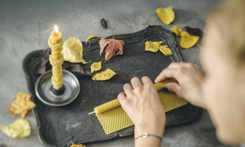 Ideas para hacer tus propias velas... ¡también con cera de abeja natural!