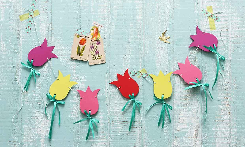 Ideas con tulipanes de papel para alegrar cualquier fiesta