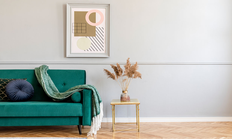 Cómo colgar cuadros en tus paredes sin hacer agujeros