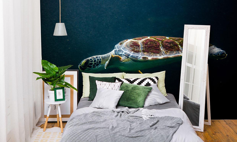 Haz un cabecero para tu cama con un vinilo decorativo