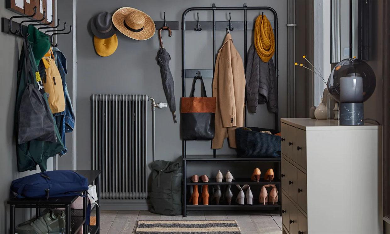 10 ideas de almacenaje para organizar el recibidor de tu casa