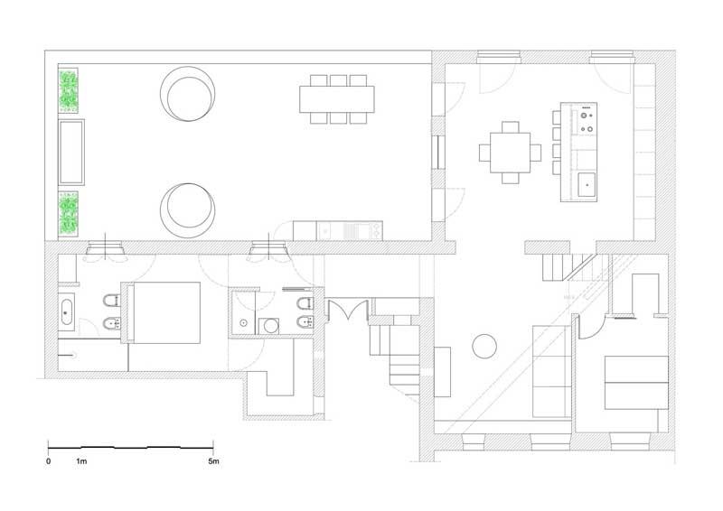 Plano de distribución del apartamento tras la reforma