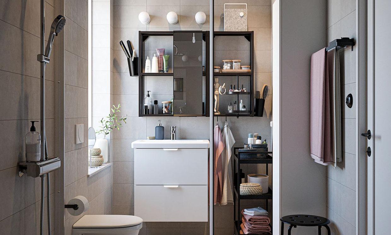 Los mejores muebles y elementos auxiliares para baños pequeños