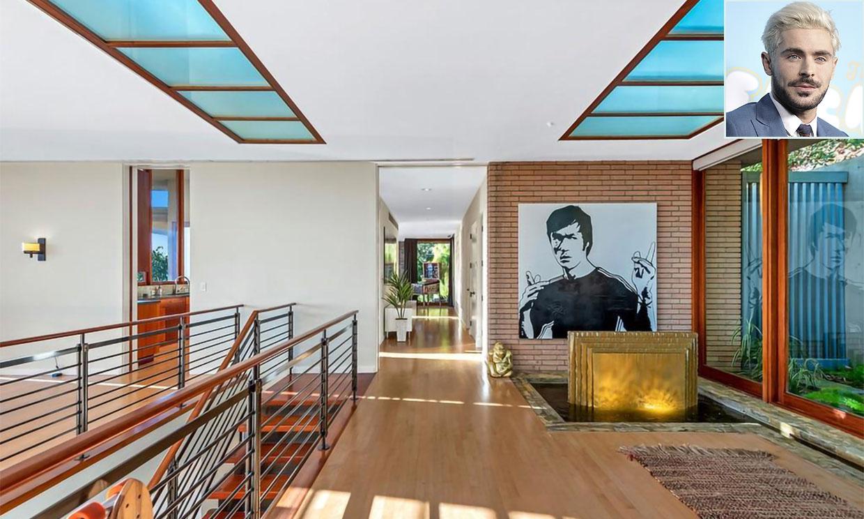 Cuatro habitaciones, cinco baños, una piscina con cascada... Así es la casa de Zac Efron