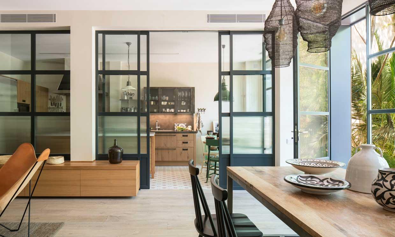 Puertas correderas de diseño espectacular para la cocina