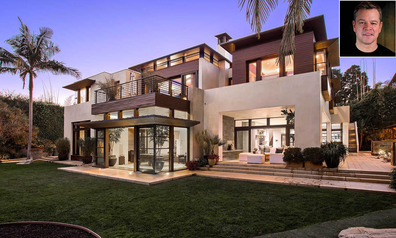 7 habitaciones, 10 cuartos de baño, piscina... Así es el refugio 'zen' de Matt Damon en California