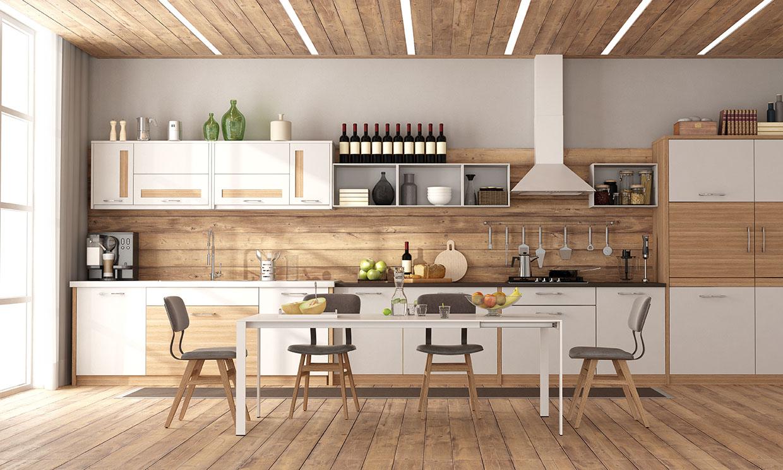 Madera, un material protagonista en tu cocina