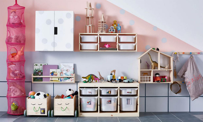 Ideas prácticas para guardar los juguetes de los niños en su habitación