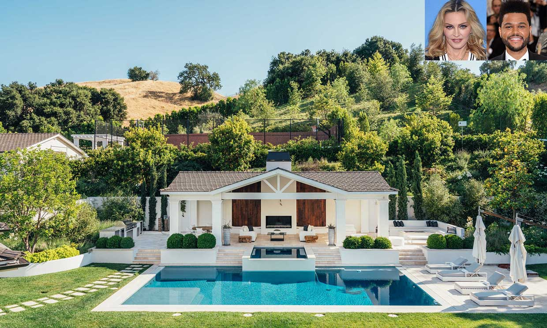 Entramos en la elegante mansión que Madonna ha comprado a The Weeknd