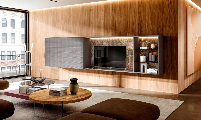 Dónde y cómo colocar la televisión en el salón para que sea otro accesorio decorativo más