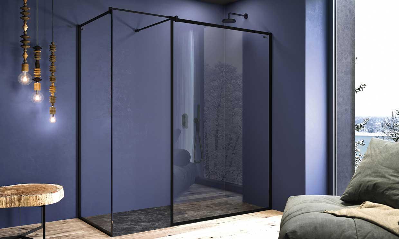 Mamparas de ducha con perfiles negros: lo último para tu baño