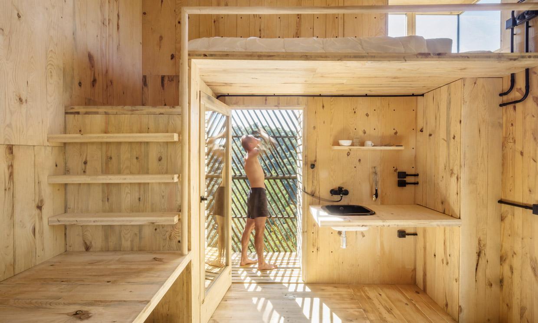 ¿Quieres ver una cabaña de madera km 0 ideada para un mundo sostenible?