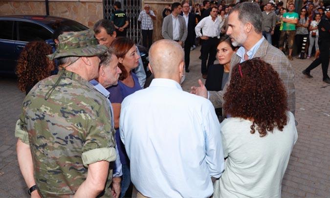 Los Reyes llegan a Mallorca para visitar a los afectados por las inundaciones