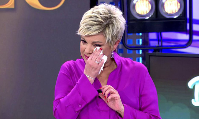 Lágrimas, emoción y un doloroso testimonio en la vuelta de Terelu Campos a la televisión