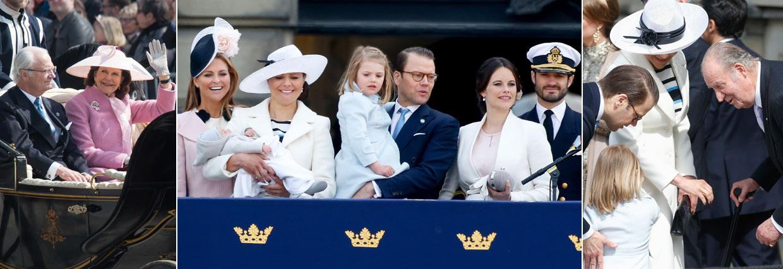 Um retorno esperado, dois protagonistas jovens e gesto de concurso de Don Juan Carlos no aniversário do rei Carl XVI Gustaf