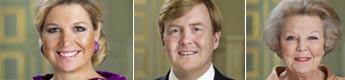 La reina Beatriz y los príncipes Guillermo y Máxima de Holanda estrenan retratos oficiales