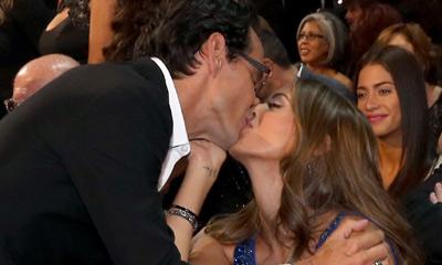 Los recién casados Marc Anthony y Shannon de Lima, besos y más besos en los Grammy Latino