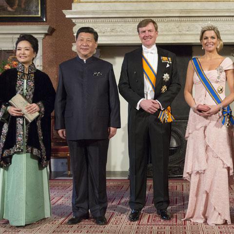 El encuentro de Máxima de Holanda y Peng Liyuan, Primera Dama china