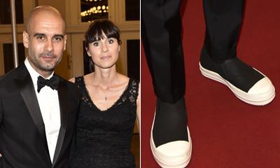 Pep Guardiola y sus originales zapatillas, protagonistas (sin quererlo) de la noche de Josep Carreras