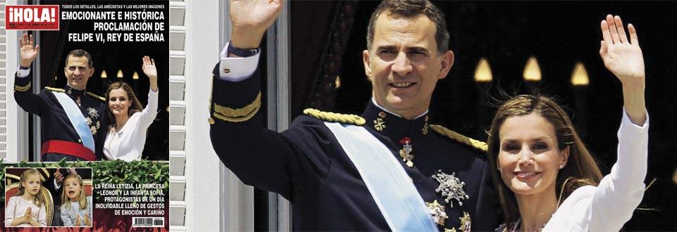 En ¡HOLA!: Emocionante e histórica proclamación de Felipe VI, Rey de España