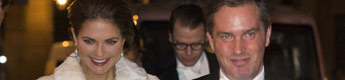Chris O'Neill, prometido de la princesa Magdalena, debuta en un acto de gala con toda la Familia Real sueca