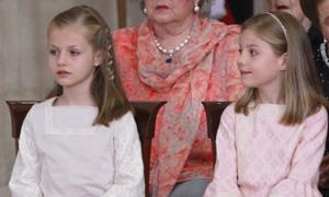 Las infantas Leonor y Sofía participan en todas las ceremonias de sucesión en la Corona