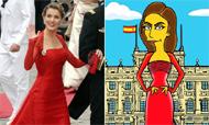 Doña Letizia lleva su elegancia al 'reino' de Springfield