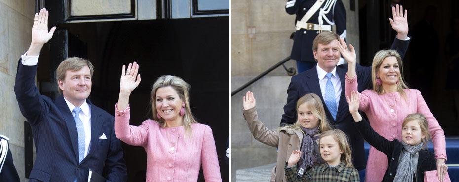 Los nuevos Reyes de Holanda se despiden de sus invitados