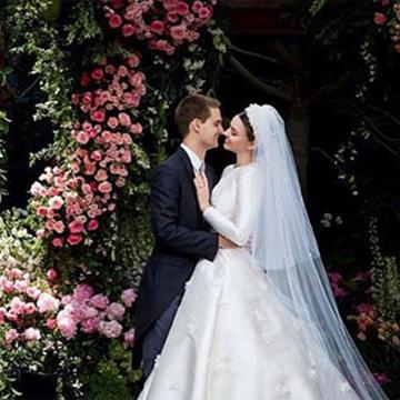 miranda kerr muestra su vestido de novia inspirado en el de una princesa grace kelly