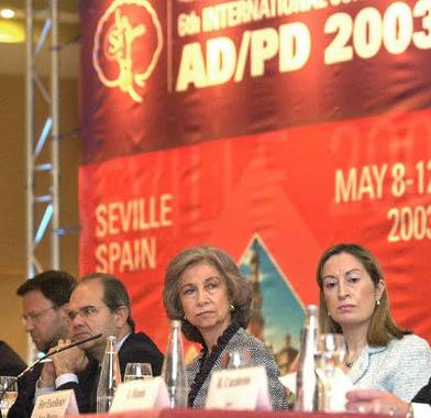 Doña Sofía inaugura la VI Conferencia Internacional de Alzheimer y Parkinson