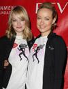 Emma Stone y Olivia Wilde, dos corredoras solidarias contra el cáncer