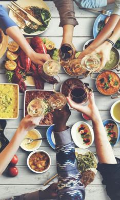 Comer fuera de casa en Navidad (y no caer en la tentación)