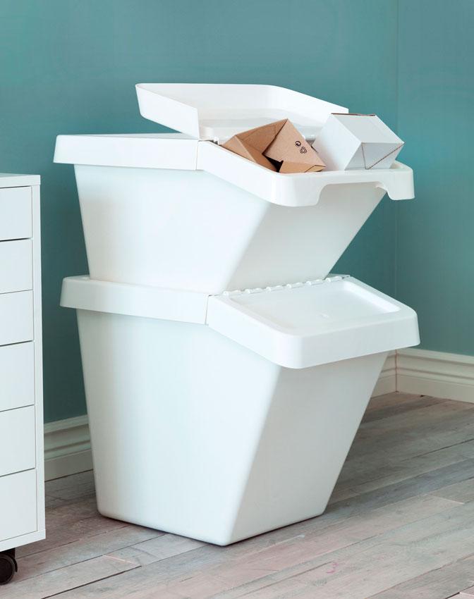 Soluciones de reciclaje para espacios peque os foto - Cestas almacenaje ikea ...