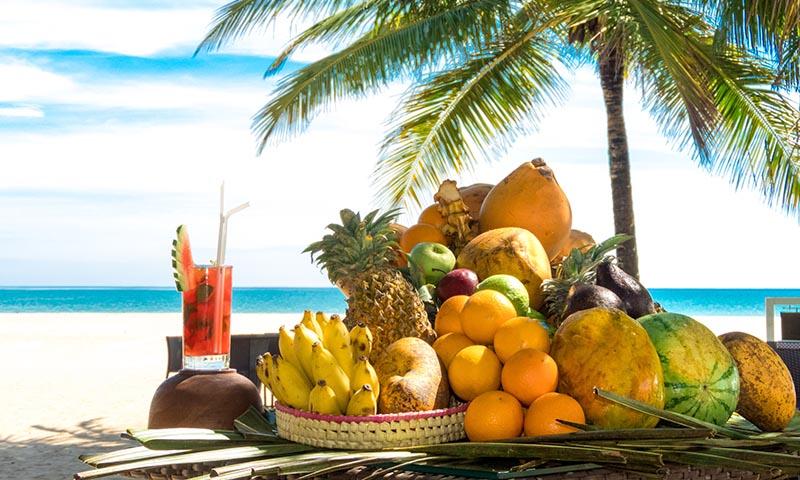 No te olvides la fruta cuando vayas a la playa
