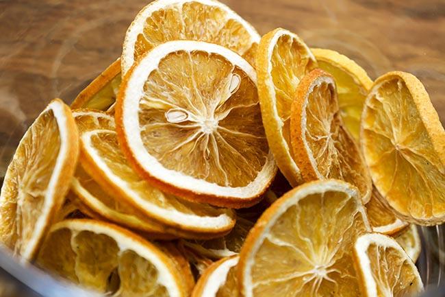 Chips de fruta liofilizada