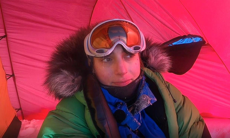 Paulina Villalonga muestra la dureza de su viaje al Polo Sur