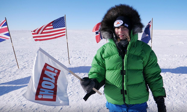 'Es el mejor día de mi vida': Paulina Villalonga no puede evitar las lágrimas al llegar al Polo Sur