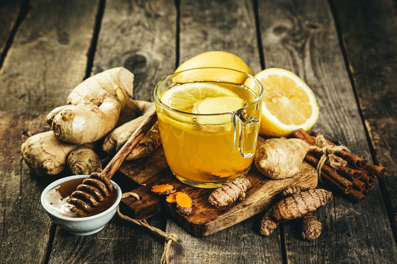 jengibre, miel y limón