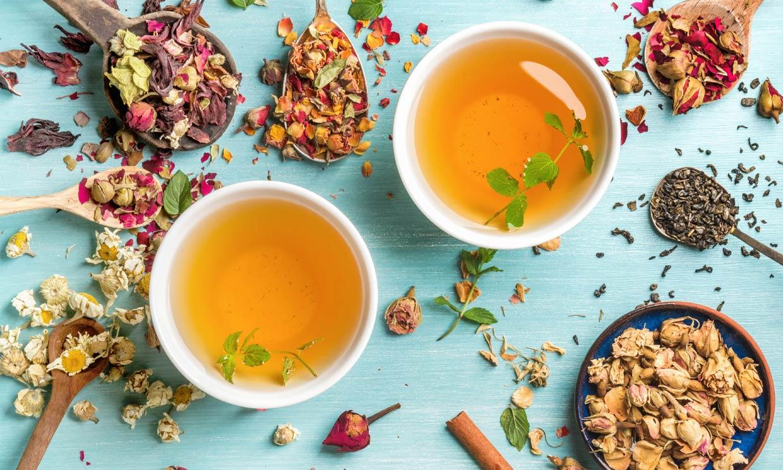 Infusiones frías de plantas medicinales para reponer líquidos en verano