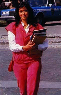 Ana Rosa Quintana, estudiante en Nueva York