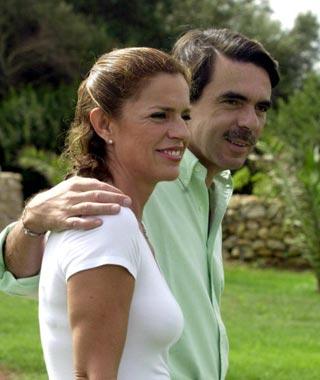 José María Aznar y Ana Botella inician sus vacaciones en Menorca