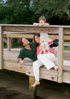 Chabeli, con su hijo y su esposo, vacaciones en el sur de Georgia