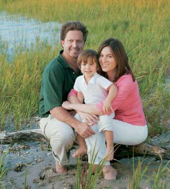 Chábeli, con su hijo y su esposo, vacaciones en el sur de Georgia