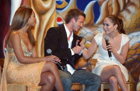 David Beckham junto a Jennifer López y Beyoncé: 'Estoy con dos mujeres impresionantes'