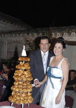 Carmen Martínez-Bordiu y José Campos, en su divertido banquete de boda