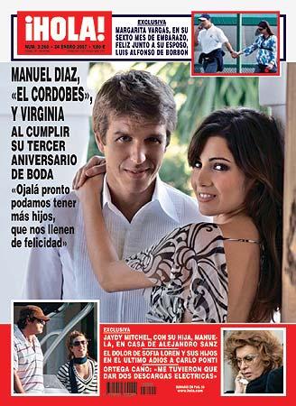Exclusiva: Manuel Díaz, 'El Cordobés', y Virginia en la revista ¡Hola!: