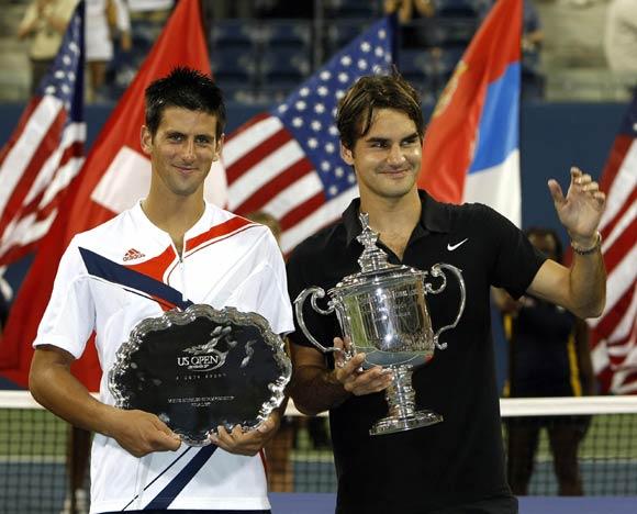 María Sharapova cautivada por la nueva estrella del tenis masculino, Djokovic