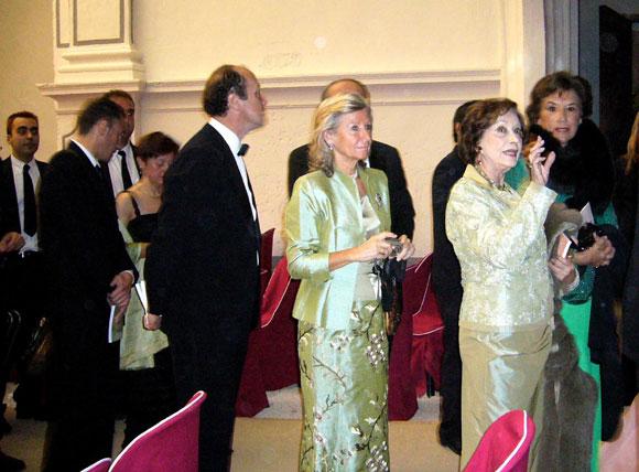 Luis Alfonso de Borbón y Margarita Vargas, cena de gala junto a la duquesa de Franco
