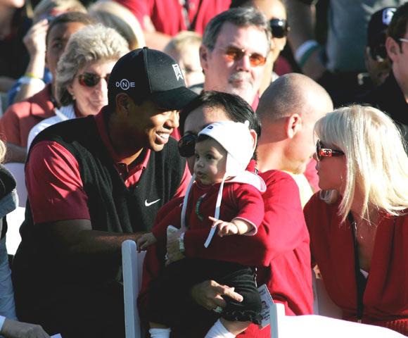 Sam Alexis, la hija de Tiger Woods, fan número uno de su padre