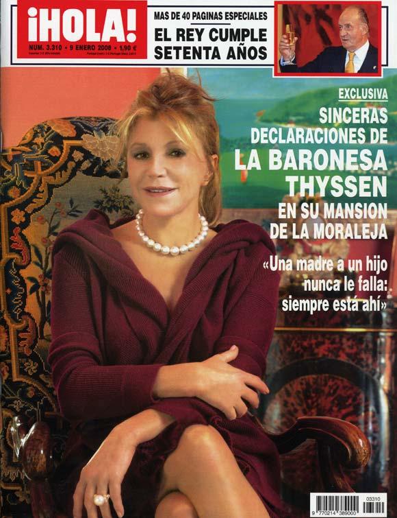 Exclusiva en ¡HOLA!: Sinceras declaraciones de la baronesa Thyssen en su mansión de La Moraleja